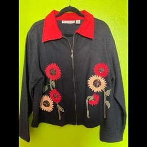 WOOL BLEND JACKET WITH EMBROIDERY XL GORGEOUS!